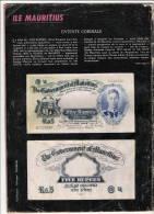 Five Rupees  Port Lous  1945 Sur 4e De Couverture TINTIN 1972 Avec Article En Rapport  état B - Maurice
