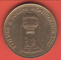 GETTONE PUBBLICITARIO - SHELL (Storia Del Volo: Etienne & Josephe Montgolfier 1783) - Italy