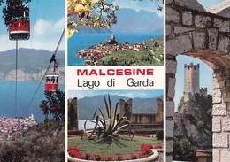 Malcesine (VR) Lago Di Garda, Vedutine - Non Viaggiata - Italia