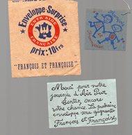 Petite Enveloppe Surprise FRANCOIS ET FRANCOISE  (PPP15038) - Alte Papiere