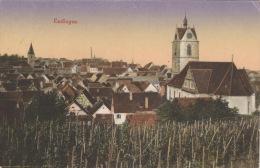 Color-Ansichtskarte Endingen-Panorama 1917 Gelaufen - Endingen