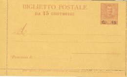 Italien Ganzsache K10 * - 1900-44 Victor Emmanuel III.