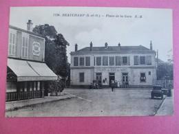 BEAUCHAMP - Place De La Gare - Chemin De Fer Du Nord - Devanture Café Tabac - Beauchamp