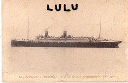 TRANSPORTS 109 :  édit. B R 399 , 80 : Le Paquebot Tourraine De La Cie Générale Transatlantique - Paquebots