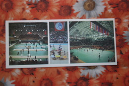 """SOVIET SPORT. Volleyball """"Druzhba""""  Complex In Moscow.  Olympic Games 1984 -OLD Postcard - Fencing - Volleyball"""