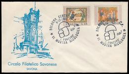 Busta (Circolo Filatelico Savonese) - VI Mostra Micologica - Bologna 6/10/1985 - 6. 1946-.. Repubblica