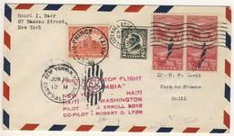(C01) - HAITI - LETTRE 1ER VOL - FIRST FLIGHT COVER NEW YORK => PORT AU PRINCE 1933 - BOYD & LYON - Haiti
