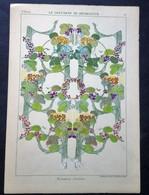 Lithographie Ancienne, Représentant Des Décorations, PETERELLE, Violette, Guérinet, Ed. - Lithographies