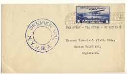 (C01) - HAITI - 1ER VOL - 1ST  FLIGHT - PORT AU PRINCE TO GREAT BRITAIN - VIA USA  - BY N.Y.R.B.A. - 1930 - Haiti