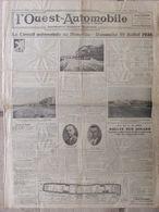 Journal L'Ouest Automobile (juil 1936) Circuit Automobile De Deauville - - Journaux - Quotidiens