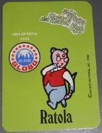 PETIT  CALENDRIER DE LE MARQUE GLOBO  DE PORTUGAL  - 1986 - Petit Format : 1981-90