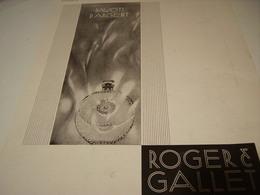 PUBLICITE PARFUM ROGER&GALLET Pavots D Argent 1930 - Perfume & Beauty