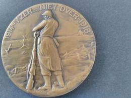 "Médaille Yser ""on Ne Passe Pas"". Attribuée Flamande. Superbe - 1914-18"
