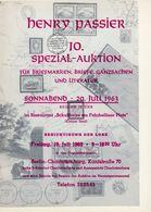 10. Passier  Auktion 1963 - Auktionskataloge