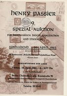 9. Passier  Auktion 1963 - Auktionskataloge
