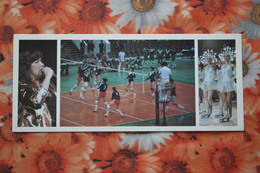 SOVIET SPORT. Small Sport Arena In Moscow.  Olympic Games 1984 -OLD Postcard - Volleyball - Volleyball