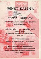 7. Passier  Auktion 1962 - Auktionskataloge