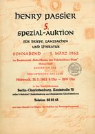 5. Passier  Auktion 1962 - Auktionskataloge