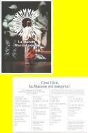 Carte-programme - La Maison De Maria Casarès - Domaine De La Vergne - Alloue 17 Juillet Au 17 Août 2018 - (16) - Programas
