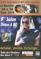 Dépliant - Programme - 9e Salon Disque & BD - La Rochelle 29 Et 30 Septembre 2018 - Expo Nationale Mylène Farmer - Programmi