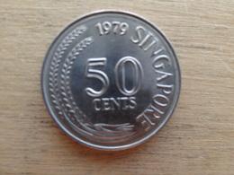 Singapour  50  Cents 1979  Km 5 - Singapour