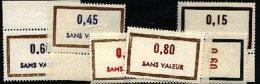 Lt024 Timbres Cours Instruction  Sans Valeur 6 Exemplaires N* (MNH) - Cours D'Instruction