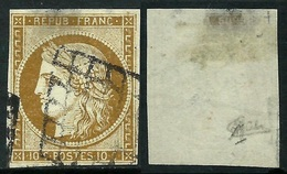 France N° 1 Obl. Grille - Signé Calves - Cote 340 Euros - 1849-1850 Ceres