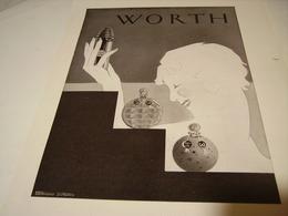 ANCIENNE PUBLICITE PARFUM WORTH 1930 - Parfums & Beauté