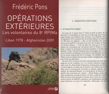1978-2009 Volontaires Du 8e RPIMa En Opérations Extérieures: Liban -Afghanistan (5 Scannes) - Unclassified