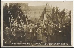 STRASBOURG - Drapeau Des 4èm Zwaves - 09-12-1918 (Zouaves) - Carte-photo Militaria - Guerre 1914-18