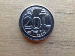 Singapour  20  Cents  2013  Km  101 - Singapour