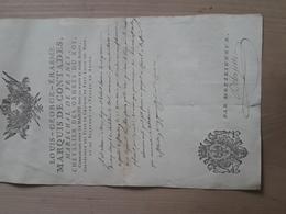 DOCUMENT MILITAIRE. LOUIS.GEORGE.ERASME. MARQUIS DE CONTADES. MARECHAL DE FRANCE. MAZE 49. - Documentos Antiguos