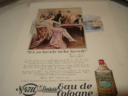 ANCIENNE PUBLICITE EAU DE COLOGNE 4711 IT S SO LOVELY TO BE LOVED 1930 - Perfume & Beauty