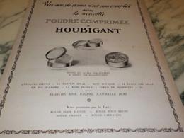 ANCIENNE PUBLICITE POUDRE COMPRIMEE DE HOUBIGANT 1923 - Perfume & Beauty