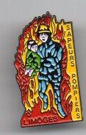 PIN S  METAL   87   LIMOGES        SAPEURS POMPIERS - Firemen