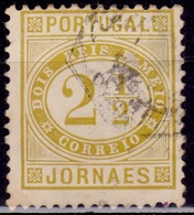 Portugal, 1876, Newspaper Stamp, 2 1/2c, Sc#P1, Used - Used Stamps