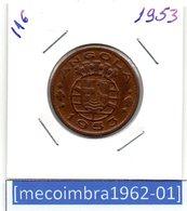 [*116*] - Ex/Colonia Angola Portuguesa 1 Escudo 1953 Angola Portuguesa - Colonia - Angola