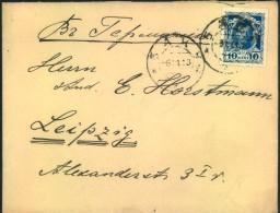 1913, Letter With 10 Kop. Romanow From BAKU, Azerbaijan To Germany. - Azerbaïdjan