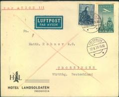 1939, Luftpostbrief Ab FREDERICIA Nach Deutschland - Zonder Classificatie