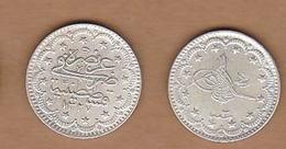 AC - OTTOMAN - TURKEY 5 KURUS 1327 - 3 VF+ MEHMED RESAD 5th RARE TO FIND KM#750 - Türkei
