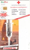 BULGARIA(chip) - Bulgarian Red Cross 2, Bulfon Telecard 100 Units, Chip GEM6a, Tirage 12000, 07/00, Used - Bulgaria
