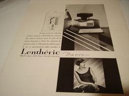 ANCIENNE PUBLICITE PARFUM LE PIRATE LENTHERIC 1929 - Parfums & Beauté