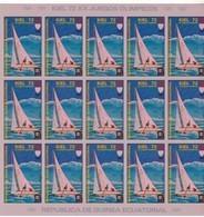 Guinea Ecuatorial Nº Michel A102 En Hoja De 15 Sellos SIN DENTAR - Äquatorial-Guinea