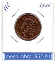 [*118*] - Ex/Colonia Angola Portuguesa 1 Escudo 1965 Angola Portuguesa - Colonia - Angola