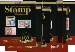 Scott 2018 Standard Postage Stamp Catalogue Volumes 1-6. Full Set. - Stamp Catalogues