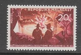 TIMBRE NEUF DE MADAGASCAR - 40E ANNIVERSAIRE DU SCOUTISME NATIONAL N° Y&T 395 - Scoutisme