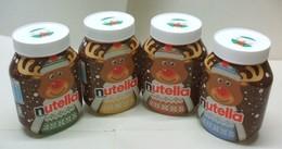 4 Pots De NUTELLA Bocaux Vides - Renne Collection Complète - Noël Neige - Nutella