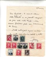 Francobolli  Inviati Da Militare Durante Guerra Di Spagna, Con Testo - 1931-50 Storia Postale