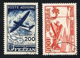 Colonie Française ; Fezzan PA N°4/5 Oblitéré ; Qualité Très Beau - Fezzan (1943-1951)