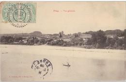 """Cachet Perlé Facteur Boitier """"Priay Ain 1905"""" Blanc Frappe Superbe Refais Dos Pour Lyon - Marcophilie (Lettres)"""